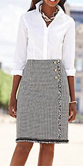 Talbots-CHeck-Tweed-Wrap-Skirt-And-Perfect-Long-Sleeve-Shirt