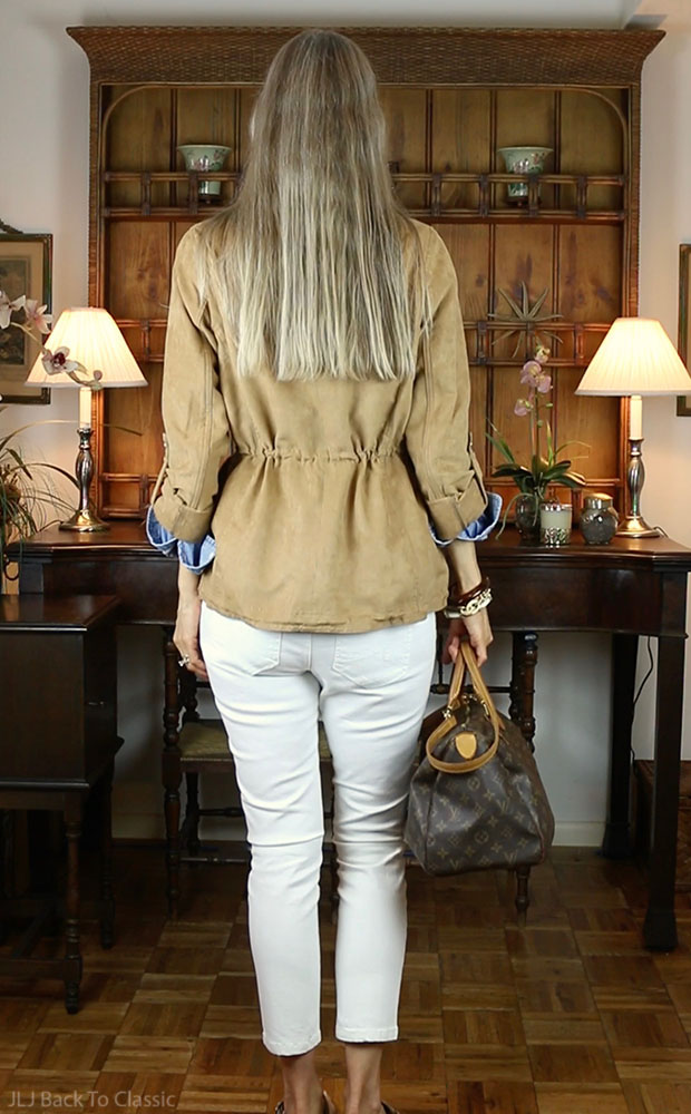 Camel-Faux-Suede-Utility-Jacket-Louis-Vuitton-Speedy-30-White-Skinny-Jeans