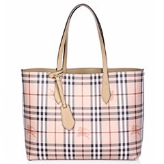 Burberry-Medium-Reversible-Leather-And-Haymarket-Tote-Camel