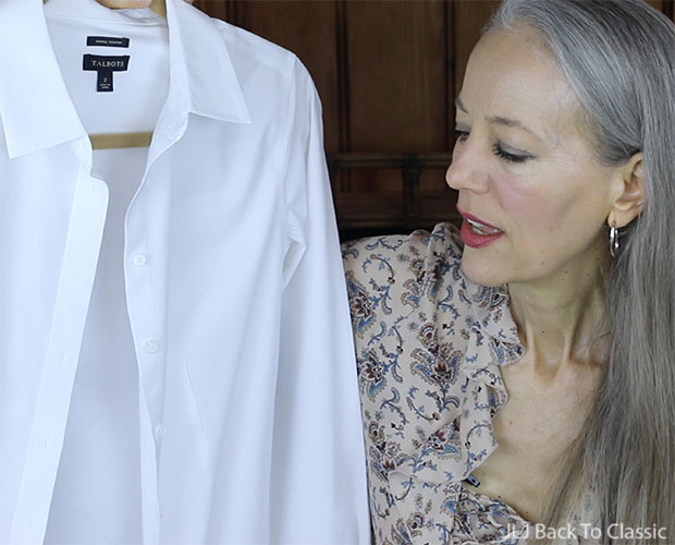 Classic-Fashion-Style-Over-40-50-Talbots-Perfect-White-Shirt-YouTube-Review