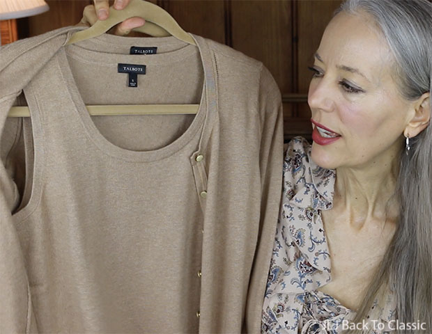 Classic-Fashion-Style-Over-50-Talbots-Matching-Sweater-Set-YouTube-Reveiw