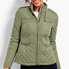 Talbots-Cinched-Waist-QUilted-Military-Jacket