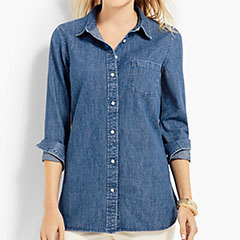 Talbots-Classic-Denim-Shirt-Rhine-Wash
