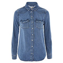 Topshop-Fitted-Denim-Shirt
