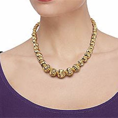 18-K-Yellow-Gold-Fluted-Bead-Necklace