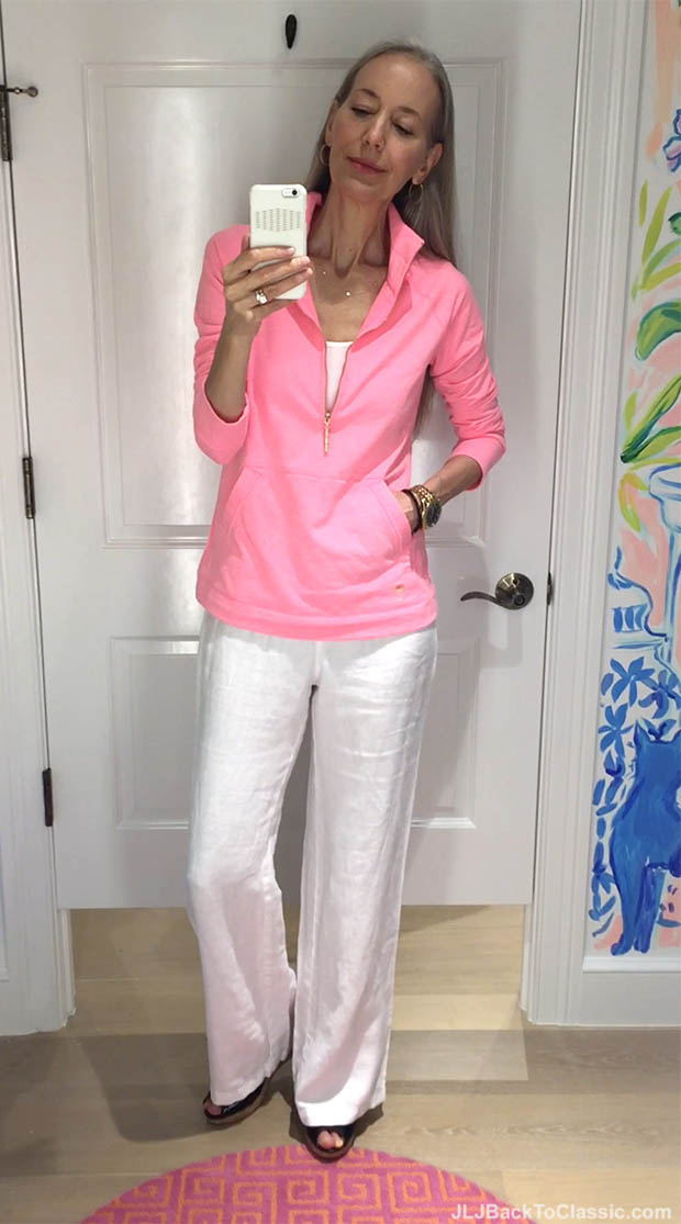 Classic-Fashion-Over-40-Lilly-Pulitzer-Skipper-Solid-Popover-White-Linen-Pant