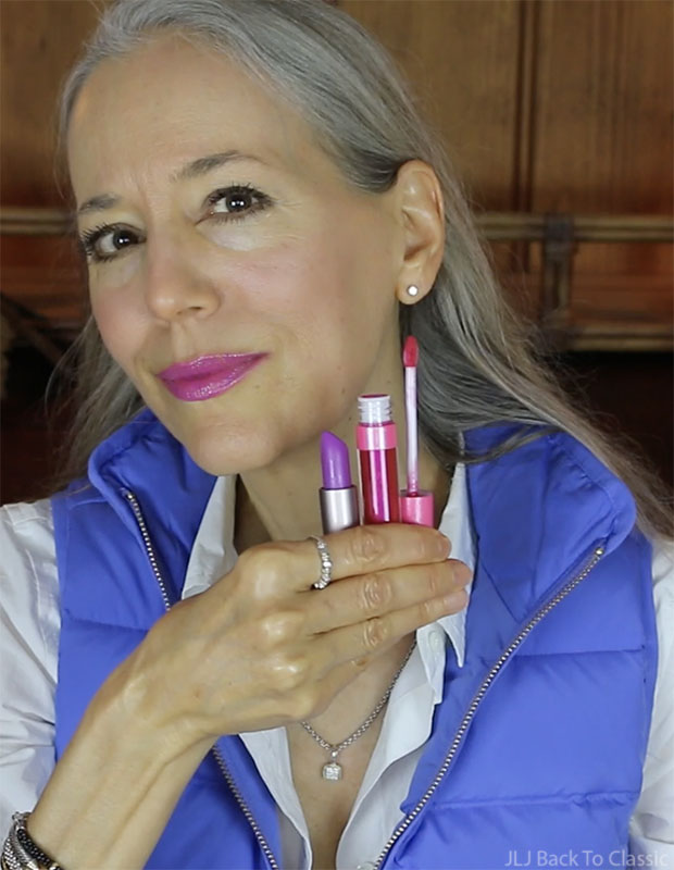 Classic-Beauty-Over-50-100-Percent-Pure-Tempest-Lipstick-Ruby-Lip-Gloss-Swatch