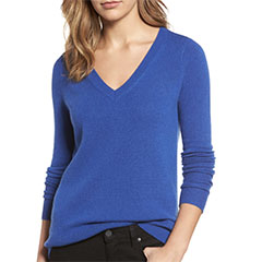 Halogen-Cashmere-V-Neck-Sweater-Blue