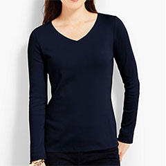 Talbots-Cotton-Long-Sleeve-V-Neck-Tee-Indigo-Blue