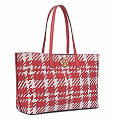 Tory-Burch-Duet-Woven-Leather-Tote-Cherry