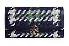 Tory-Burch-Duet-Woven-Leather-Wallet