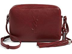 Saint-Lauren-Small-Mono-Burgundy-Camera-Bag