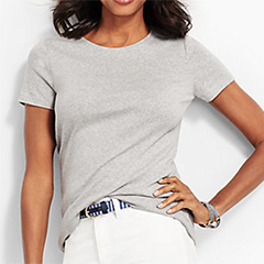 Talbots-Heathered-Crewneck-Tee