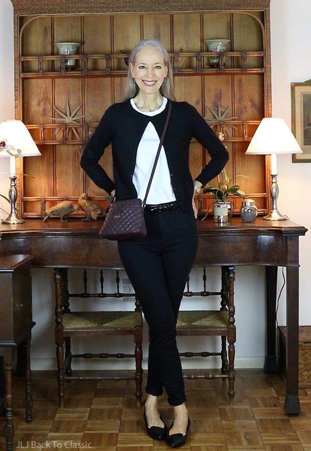 classic-fashion-over-40-50-talbots-black-cardigan-jegging-janis-lyn-johnson