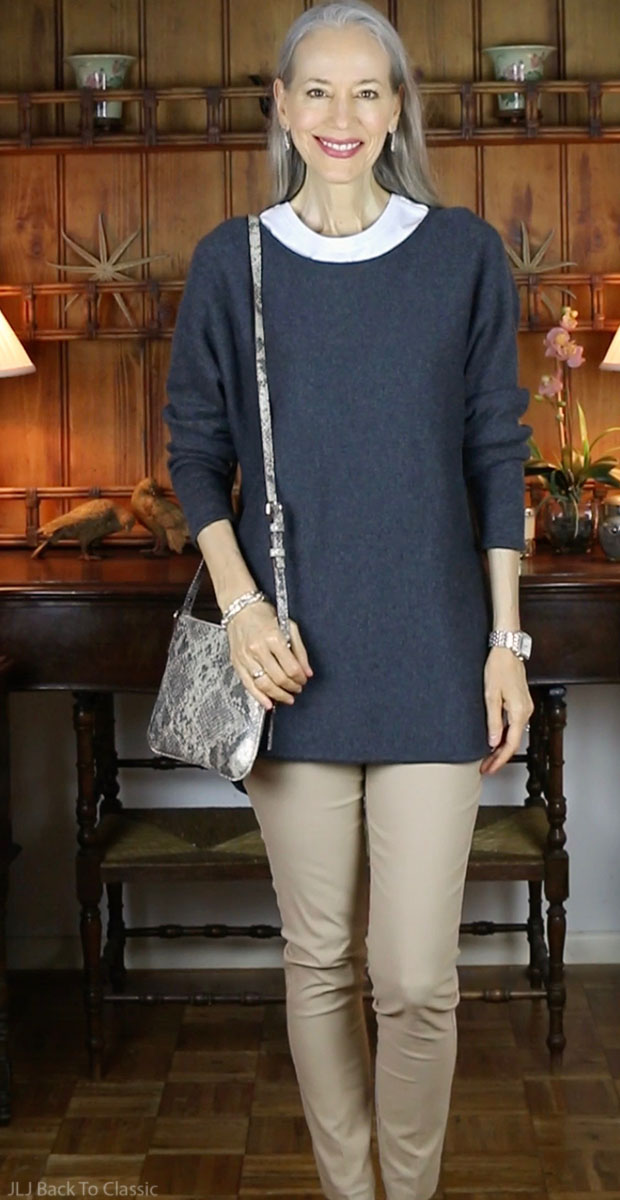 classic-fashion-over-40-50-kate-spade-crossbody-Michael-Kors-Tunic-Sweater