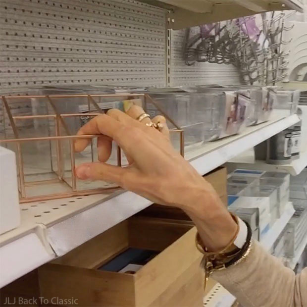 Vlog-Target-Naples-Florida-glass-and-metal-vanity-organizer-Blogger-Janis-Lyn-Johnson