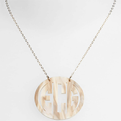 Moon-and-Lola-Blonde-Tortoise-Large-Oval Personalized-Monogram-Pendant-Necklace