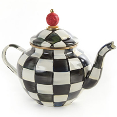 mackenzie-childs-courtly-check-4-cup-enamel-teapot