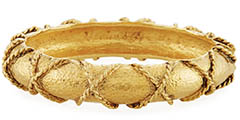 jose-and-maria-barrera-gold-rope-wrapped-bangle-bracelet