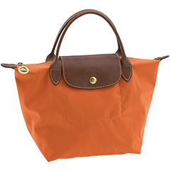 longchamp-le-pliage-small-top-handle-tote-saffron