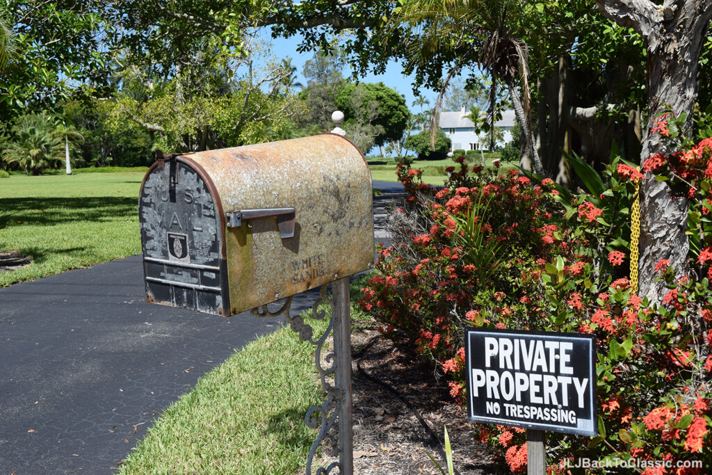 Colonial-Beach-House-Naples-Florida-Weathered-Mailbox