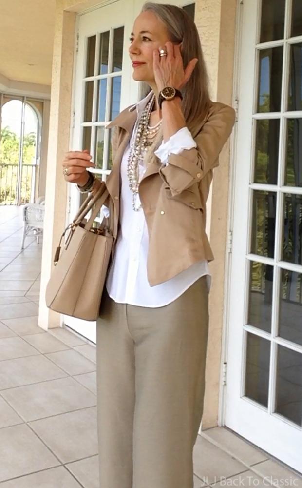 Prada-beige-Saffiano-Tote-Beige-Moto-Jacket-Long-Pearls-Silk-Pants