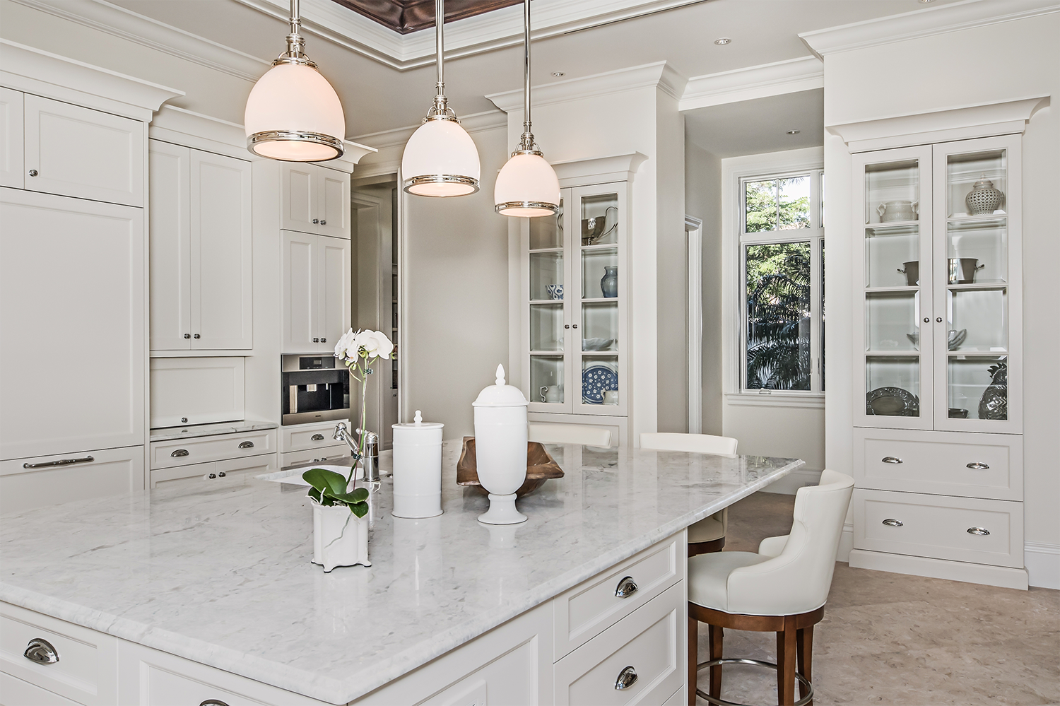 Using Cabinetry To Make An All-White Kitchen Interesting ...