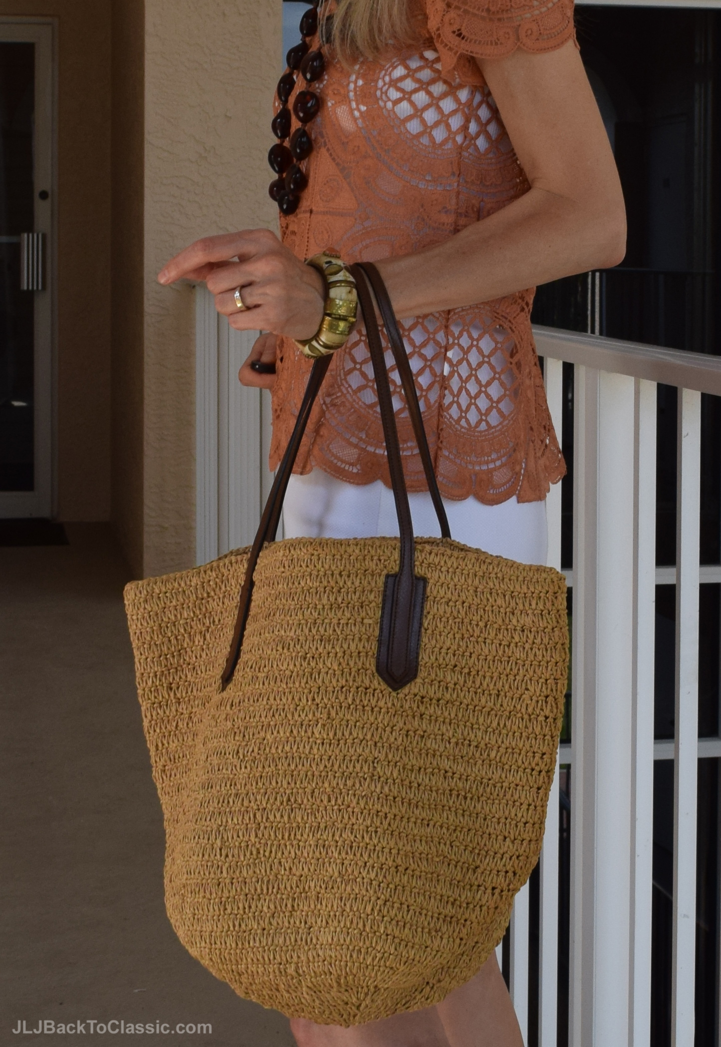 J-Crew-Straw-Bag-Anthropologie-Crochet-Top