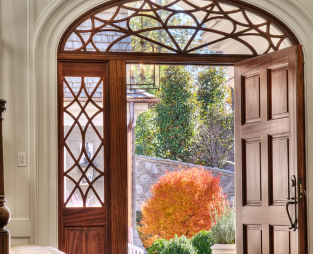 Front-Door-Shingle-Style-House-By-Stephen-Fuller