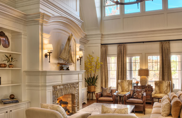 Great-Room-Shingle-Style-House-By-Stephen-Fuller