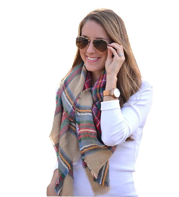 Moxeay-oversized-tartan-scarf-Amazon.com
