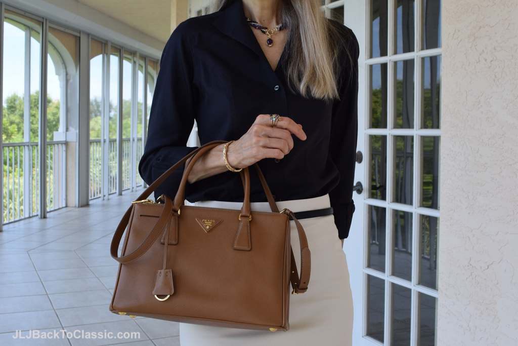 Brooks-Brothers-Shirt-J-Crew-Skirt-Prada-Bag-JLJBackToClassic.com