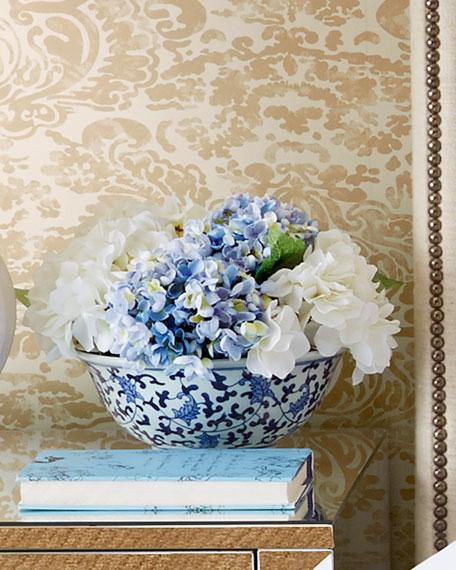 Blue-white-faux floral-Neiman Marcus.