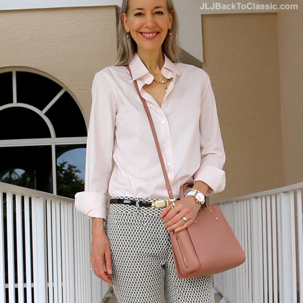 Fashion-Over-40-J.-Crew-Blush-Perfect-Stretch-Shirt-Ann-Taylor-Crossbody