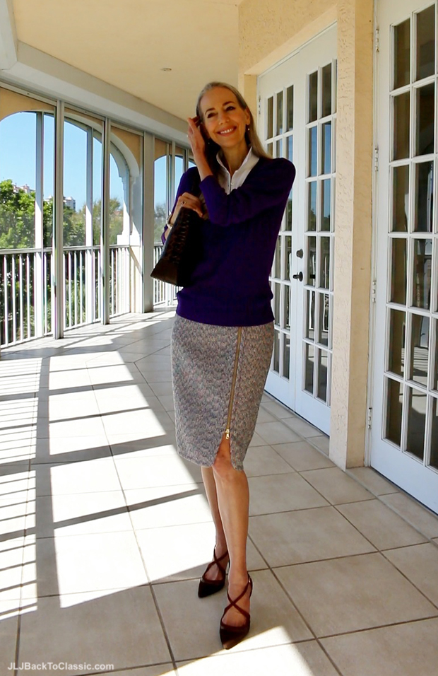 Janis-Lyn-Johnson-J-Crew-Tweed-Skirt-Tommy-Hilfiger-V-Neck-Sweater1