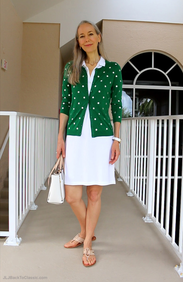 Janis-Lyn-Johnson-Classic-Fashion-Over-40-Talbots-Charming-Cardigan-Ralph-Lauren-Polo-Dress