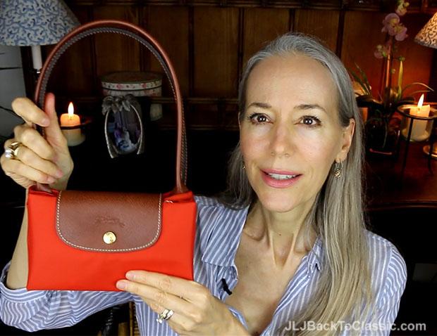 Classic-Fashion-Over 40-Over-50-Longchamp-Le-Pliage-Folded