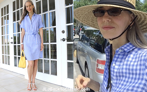 Classic-Fashion-Over-50-Janis-Lyn-Johnson-J.McLaughlin-Gingham-Dress-Blog