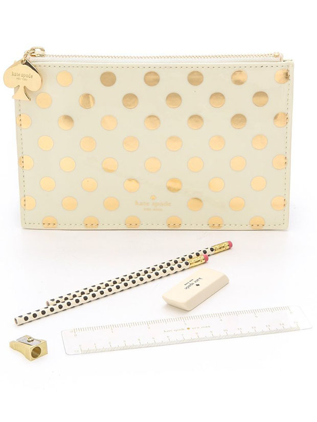 Classic-Home-Office-Kate-Spade-GOld-Dot-Pencil-Case