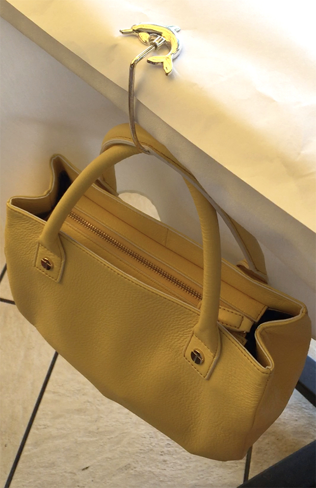 Talbots-Leather-Top-Handle-Bag-With-Dolphin-Foldable-Purse-Hanger
