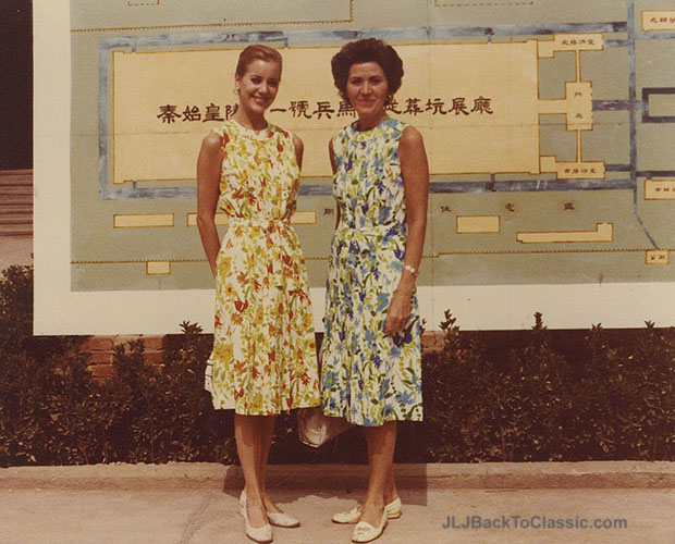 classic-floral-shift-dresses-mother-daughter-tour-china-1980-Janis-Lyn-Johnson