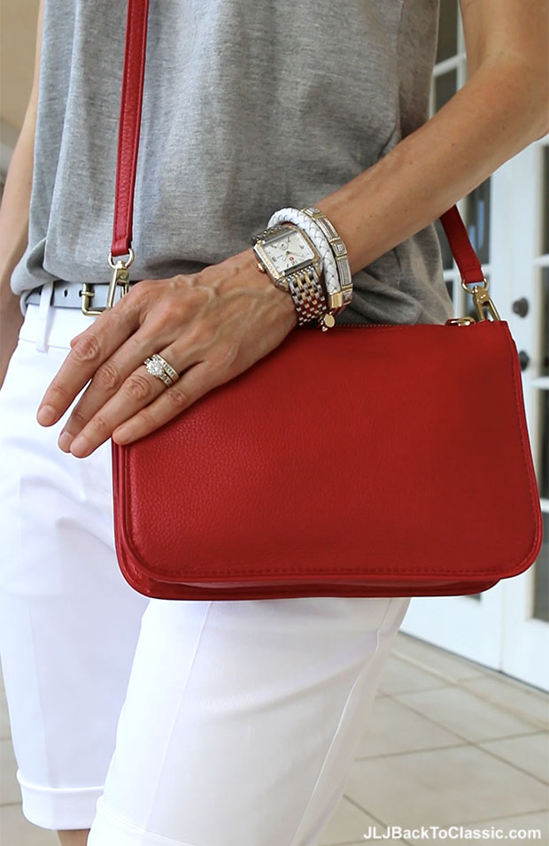 Classic-Fashion-Over-40-Michele-Watch-Red-Talbots-Crossbody-Bag