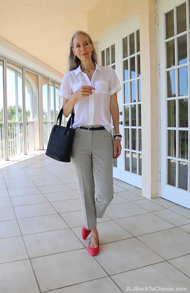 Classic-Fashion-Over-40-50-Ann-Taylor-Pants-Top-Kate-Spade-Bag