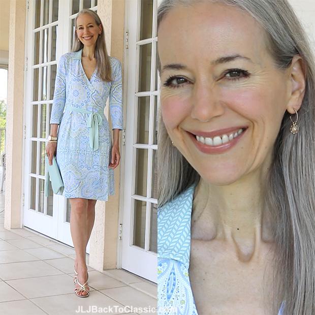 Classic-Fashion-Over-40-50-J-McLaughlin-Dress-Gigi-NY-Clutch