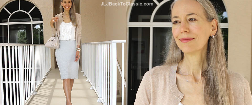 classic-fashion-over-40-ann-taylor-marled-pencil-skirt-banana-republic-cardigan