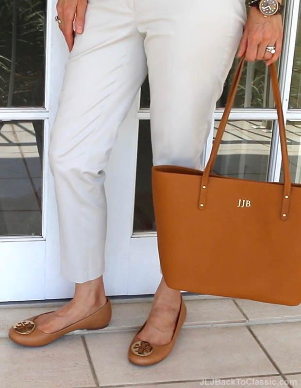 classic-fashion-over-40-50-tory-burch-reva-flats-gigi-ny-tote
