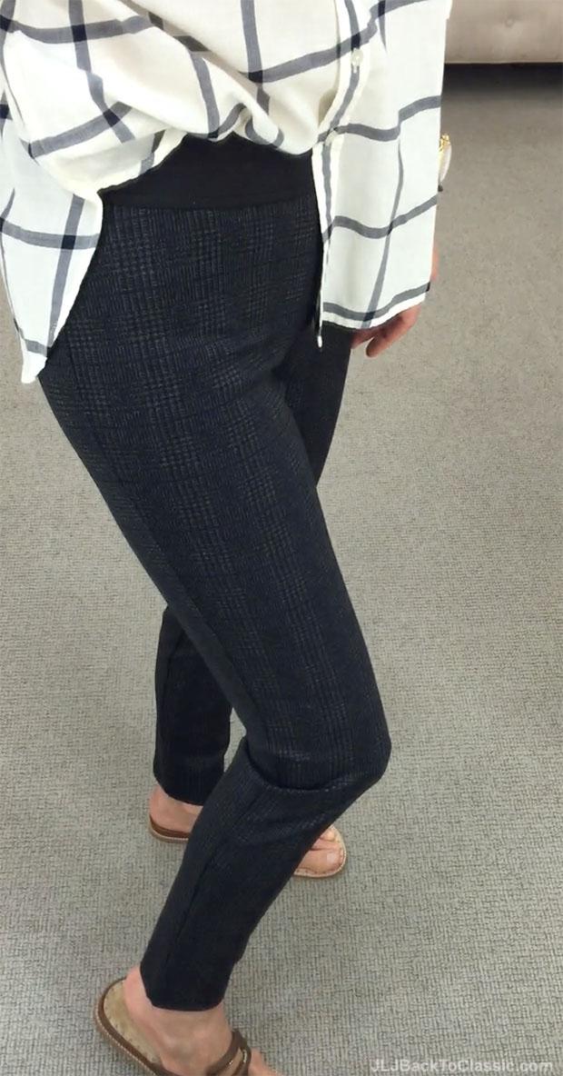 classic-fashion-over-40-talbots-windowpane-plaid-longer-shirt-glen-plaid-leggings