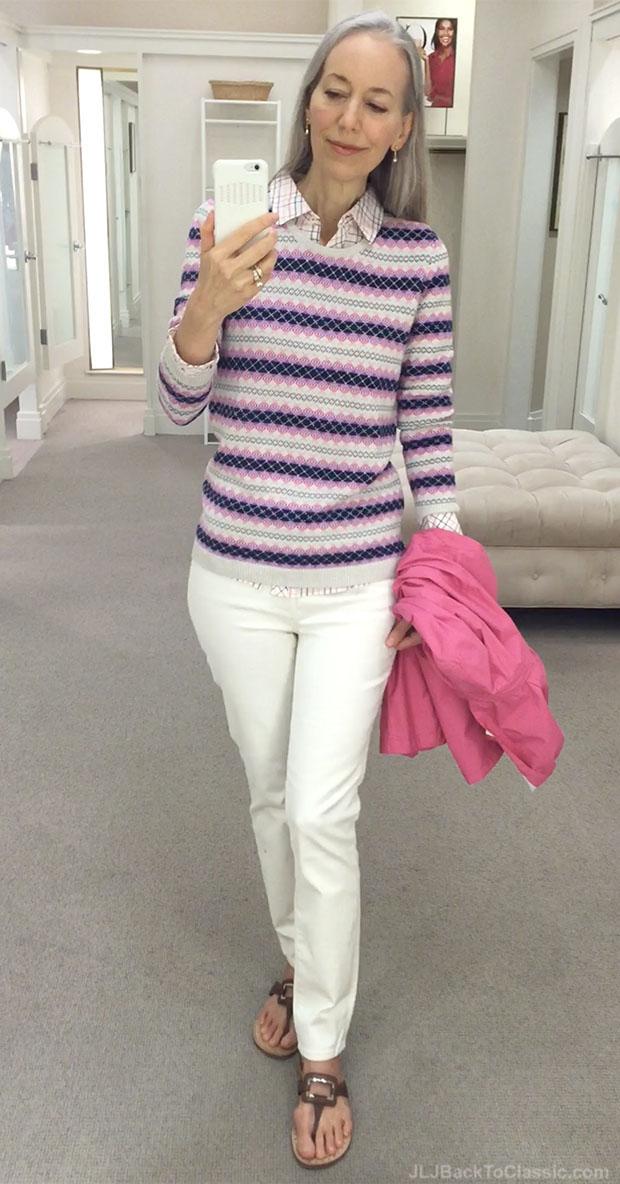 classic-fashion-over-40-talbots-fairisle-stripe-sweater-slim-ankle-jeans-vanilla