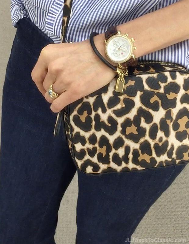 classic-fashion-over-40-j-crew-leopard-crossbody-michele-csx-watch