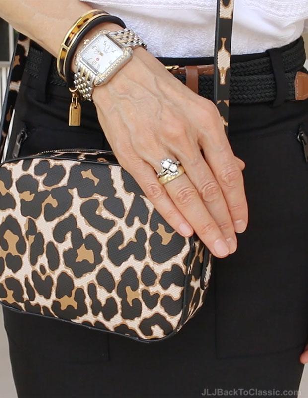 classic-fashion-over-40-j-crew-leopard-crossbody-michele-deco-watch